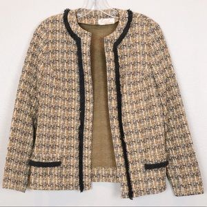 Vintage 3 Piece Plaid Jacket and Skirt Set